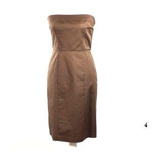Merona Collection Brown Strapless Dress Sz 4
